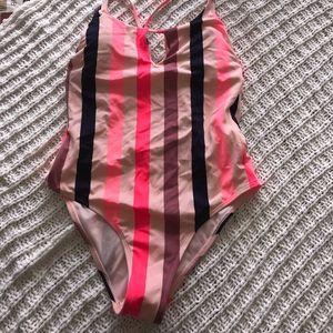 Striped one piece- NWT
